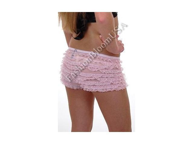 2985 * Sexy School Girl Ruffle Boy Shorts Panty * PINK