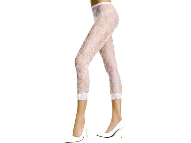 Sexy White Lace Leggings Footless Stockings Tights