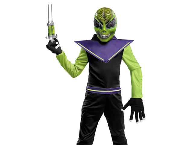 Child Glow Alien Costume Disguise 39217