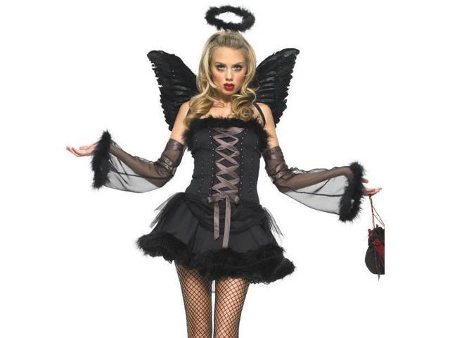 Sexy Adult Womens Gothic Dark Angel Halloween Costume