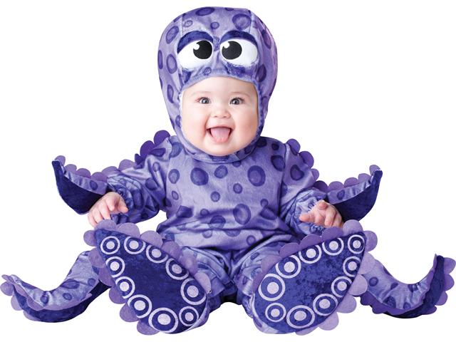 Baby Purple Octopus Infant Bodysuit Halloween Costume Medium