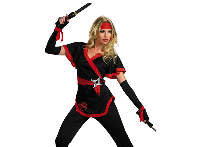 Sexy Ninja Warrior Asian Martial Arts Halloween Costume ...