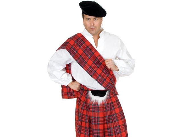 New Scottish Kilt Outfit Adult Mens Halloween Costume