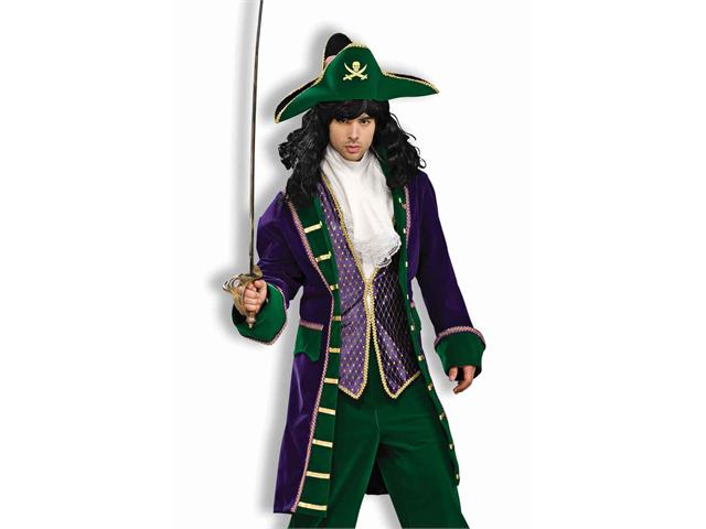 Adult Mens Mardi Gras Pirate Halloween Costume