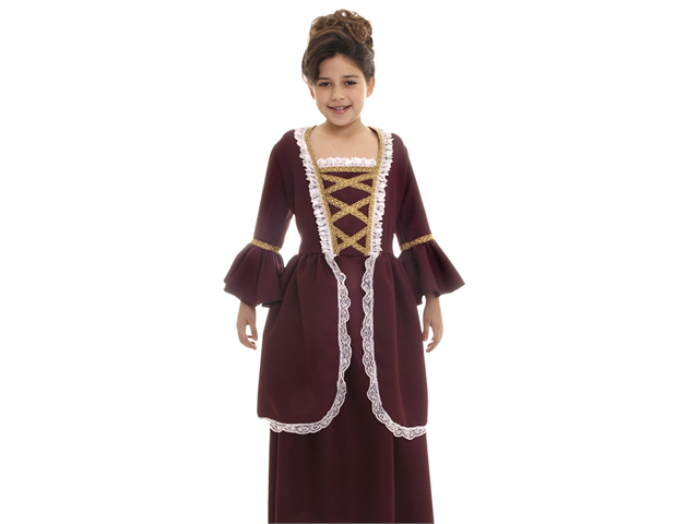 Kids Girls Colonial Historical American Revolution Halloween Costume