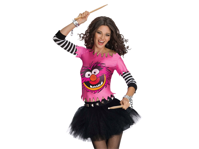 Sexy Womens Animal Muppets Electric Mayhem Halloween Costume