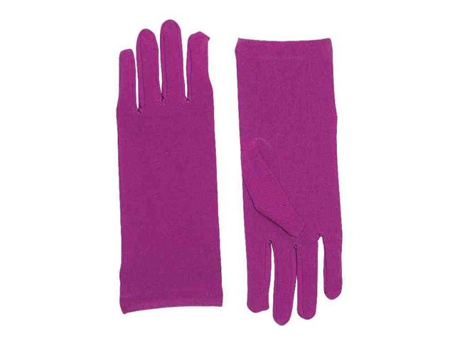 Womens Short Purple Wrist Length Costume Dress Gloves