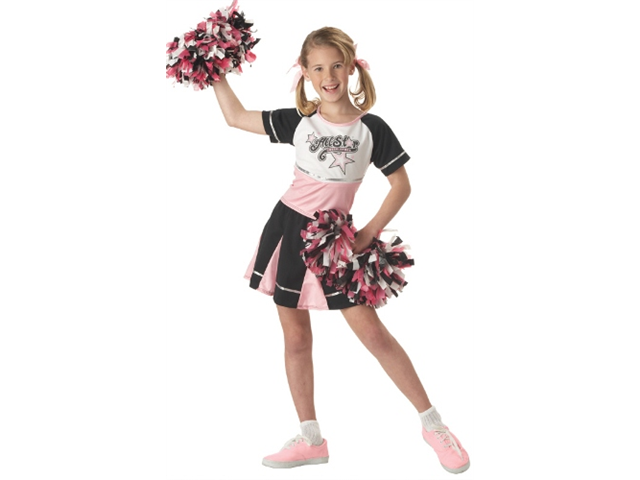 Kids Halloween Costume Girls Cheerleader Dress Outfit M