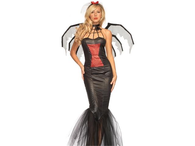 Sexy Black Widow Spider Lady Goth Halloween Costume