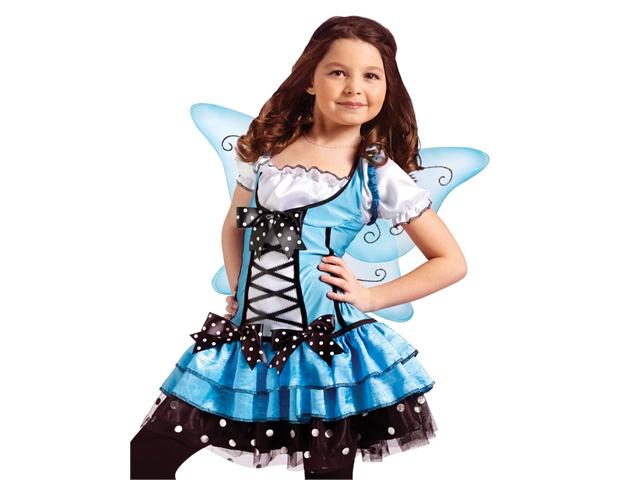 Girls Blue Fairy Ballerina Princess Halloween Costume
