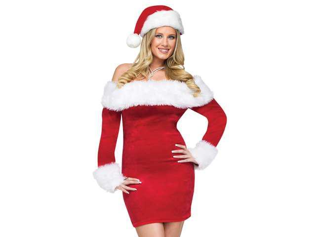 Sexy womens mrs santa claus christmas costume party dress
