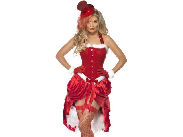 Sexy Burlesque Mrs Santa Claus Adult Christmas Costume Small