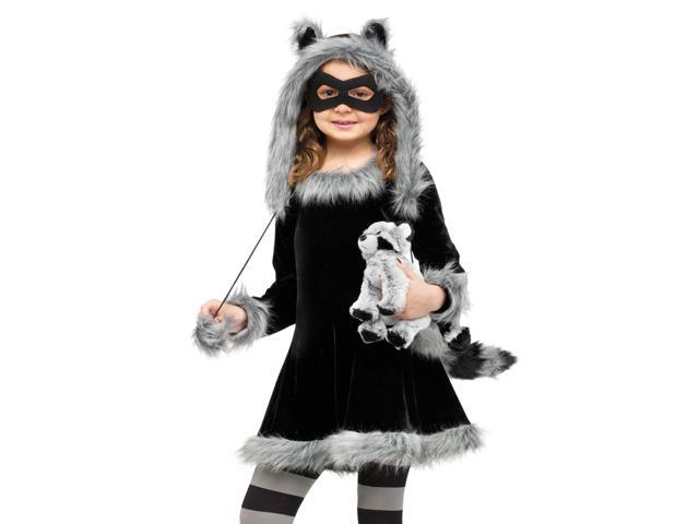 Kids Girls Raccoon Animal Halloween Costume