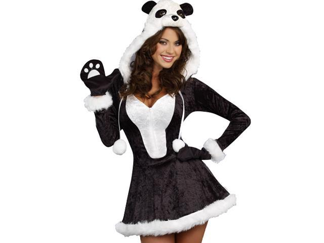 Sexy Cute Womens Panda Bear Halloween Costume