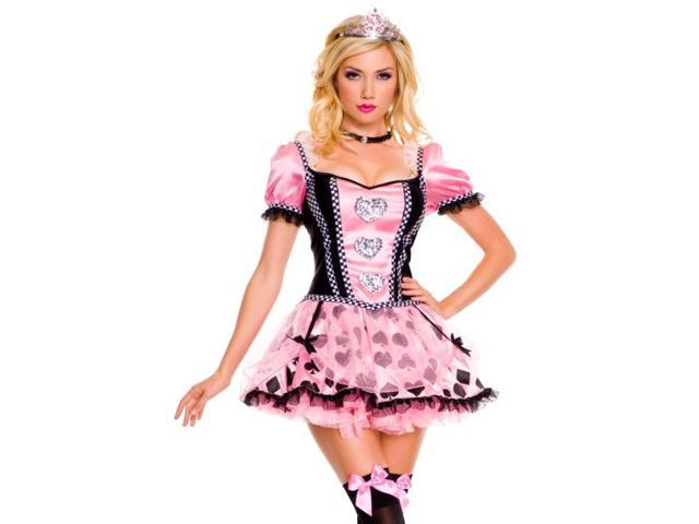 Sexy Womens Pink Queen of Hearts Halloween Costume