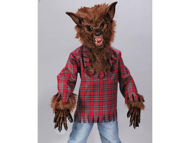 Kids Boys Scary Werewolf Wolf Man Halloween Costume
