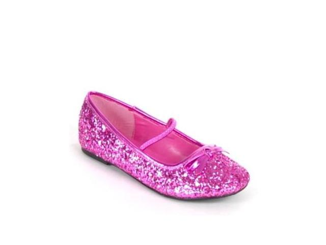 Kid Pink Glitter Ballet Costume Shoes Girls