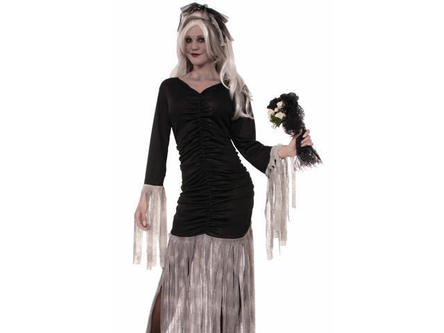 Sexy Womens Haunted Grim Reaper Ghost Bride Halloween Costume