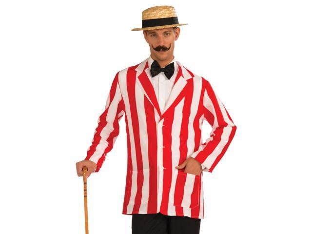Barbershop Quartet Costume : Mens Barber Shop Quartet Halloween Costume Striped Jacket