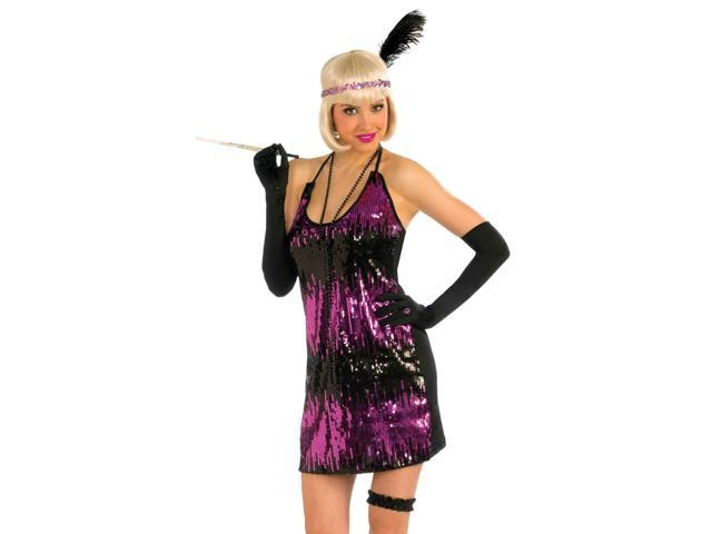 Sexy 20s Flapper Purple Sequin Dress Halloween Costume