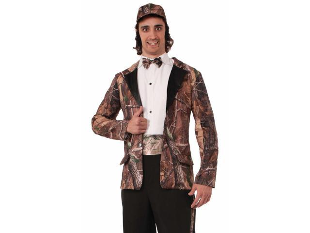 Mens Duck Hunter Camo Groom Wedding Tuxedo Halloween Costume