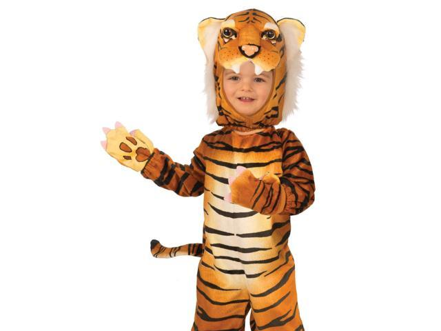 Kids Toddler Orange Tiger Animal Plush Halloween Costume