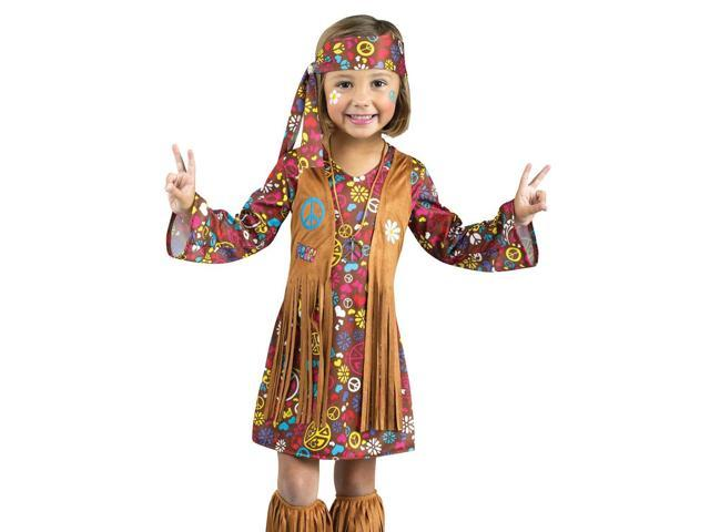 Kids Retro Hippie Toddler 60s 70s Halloween Costume ...