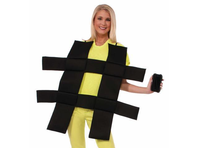 Funny Adult Hash Tag Social Media Unisex Halloween Costume