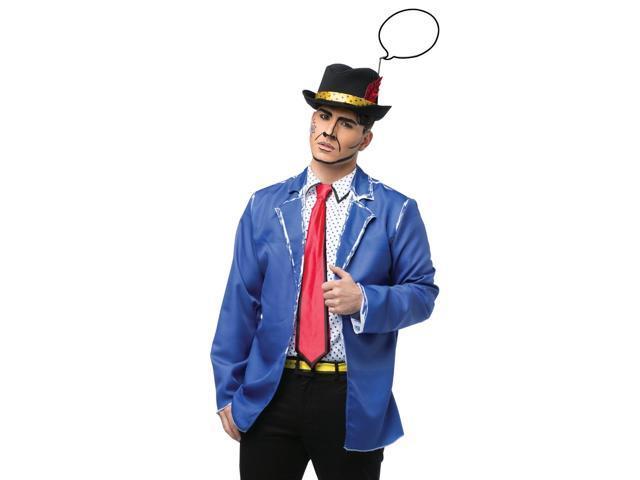 Mens Comic Book Character Retro Pop Art Halloween Costume