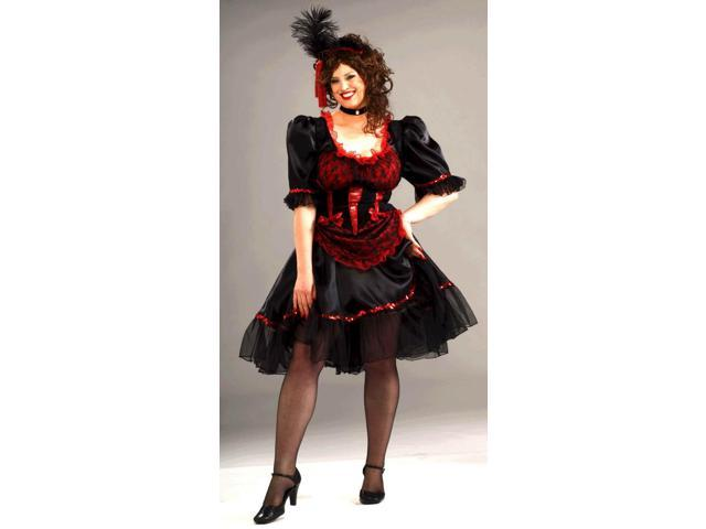 Western Saloon Girl Costume Adult Plus Plus