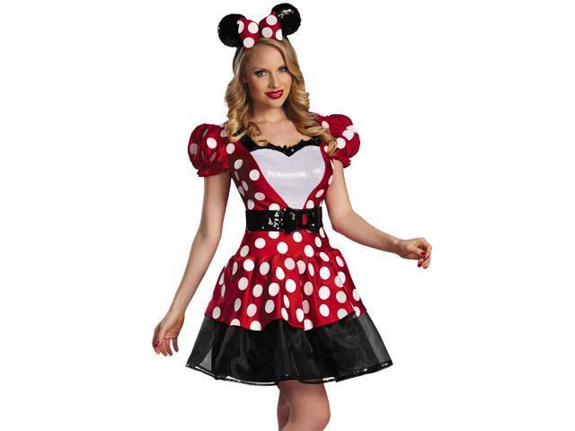 Womens Minnie Mouse Dress Disney Halloween Costume
