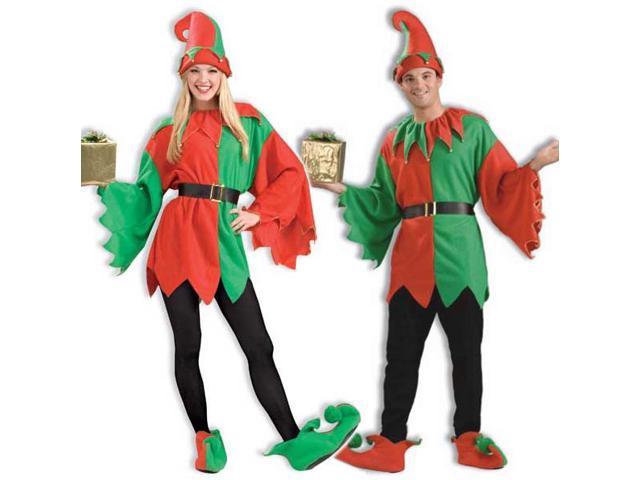 New Unisex Adult Costume Santa's Helper Xmas Elf Outfit