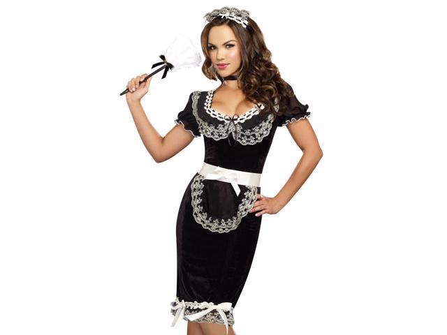 Womens Sexy Vintage Style French Maid Halloween Costume