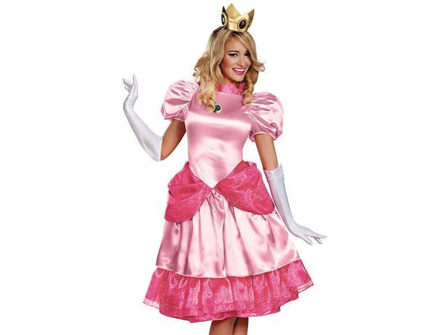 Womens Princess Peach Super Mario Brothers Halloween Costume