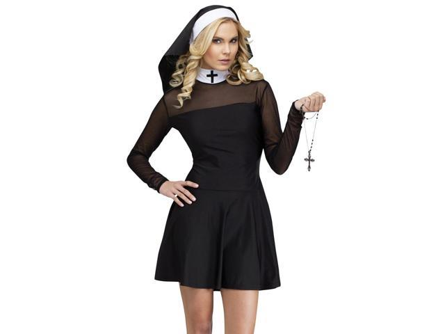 Sexy Adult Nun Habit Catholic Halloween Costume