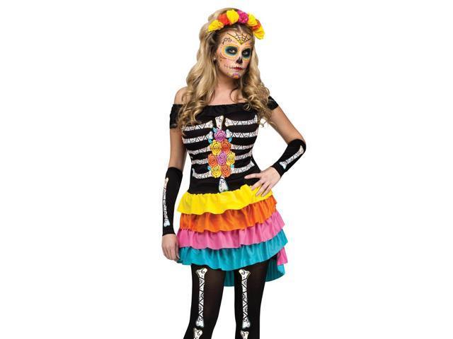 Sexy Neon Dia De Los Muertos Day Dead Halloween Costume - Newegg.com