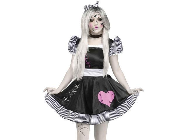 Sexy Gothic Broken China Doll Scary Halloween Costume