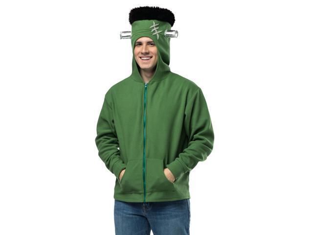 Funny Adult Frankenstein Hood Zip Up Halloween Costume Hoodie