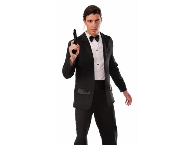 Mens Secret Service Agent Spy Tuxedo Halloween Costume