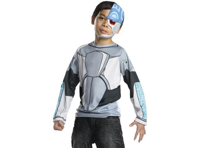 Kids Boys Teen Titans Cyborg Halloween Costume Shirt