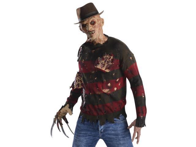 Adult Mens Freddy Krueger Halloween Costume Sweater