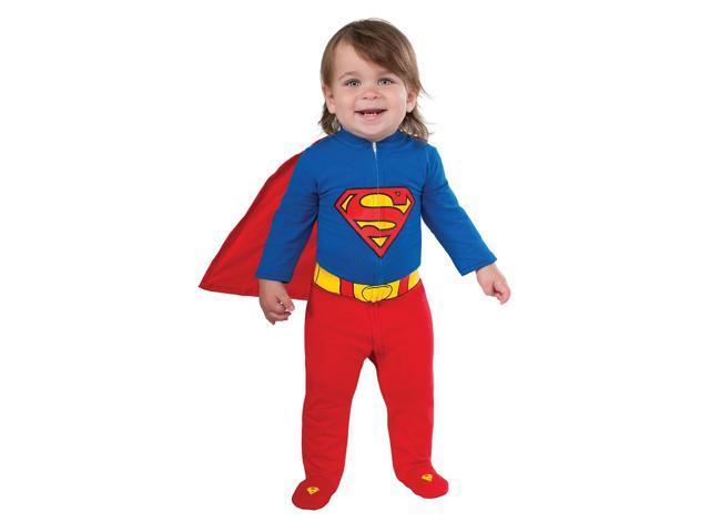 Newborn Infant Baby Superman Halloween Costume Romper