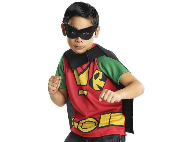 Kids Boys Teen Titans Robin Halloween Costume Shirt Top