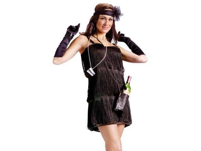 Sexy Womens 20s Flapper Adult Halloween Costume