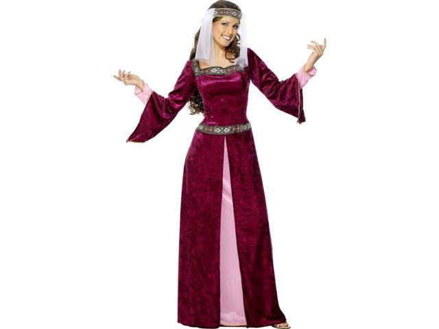 Medieval Maid Marion Juliet Dress Halloween Costume S