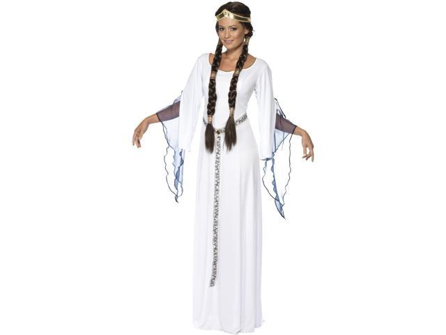 White Medieval Princess Bride Dress Halloween Costume