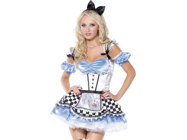 Womens Sexy Alice in Wonderland Halloween Costume
