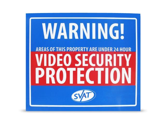 SVAT VU102-SGN INDOOR VIDEO SECURITY SYSTEM WARNING SIGN