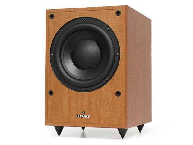 Fluance DB150 10 inch 150 Watt Low Frequency Powered Subwoofer-Natural Beech