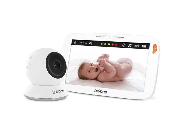 levana amara 7 touchscreen high definition video baby monitor with 12 hour battery life. Black Bedroom Furniture Sets. Home Design Ideas